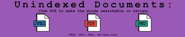 Unindexed Documents Header