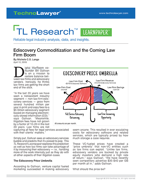 eDiscovery Commoditization Learnpaper 500x647